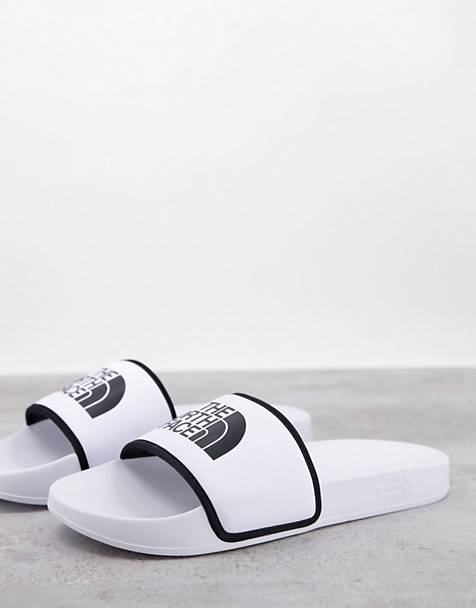 The North Face Base Camp slides in white