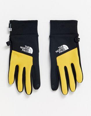 The North Face - Etip - Handschoenen in zwart/geel