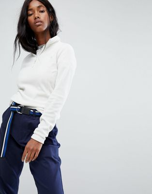 The North Face Half Zip Pullover In White