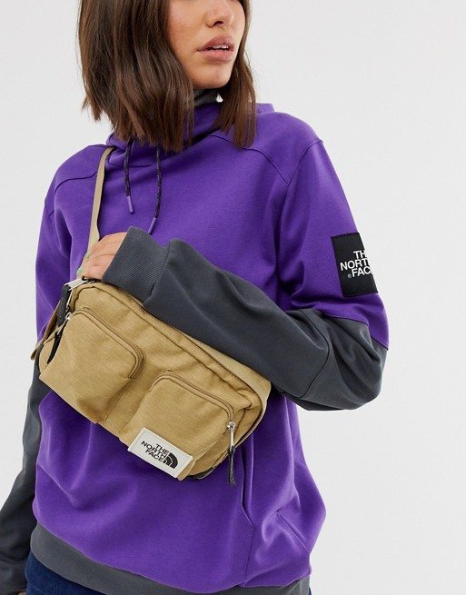 Image 1 of The North Face Kanga fanny pack in green recycled polyester