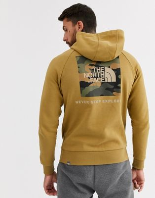 The North Face - Red Box - Raglan hoodie in kaki