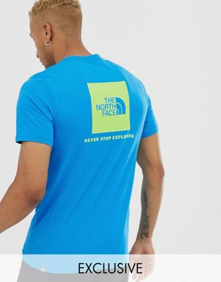 The North Face Red Box T Shirt In Blue Exclusive At Asos by The North Face