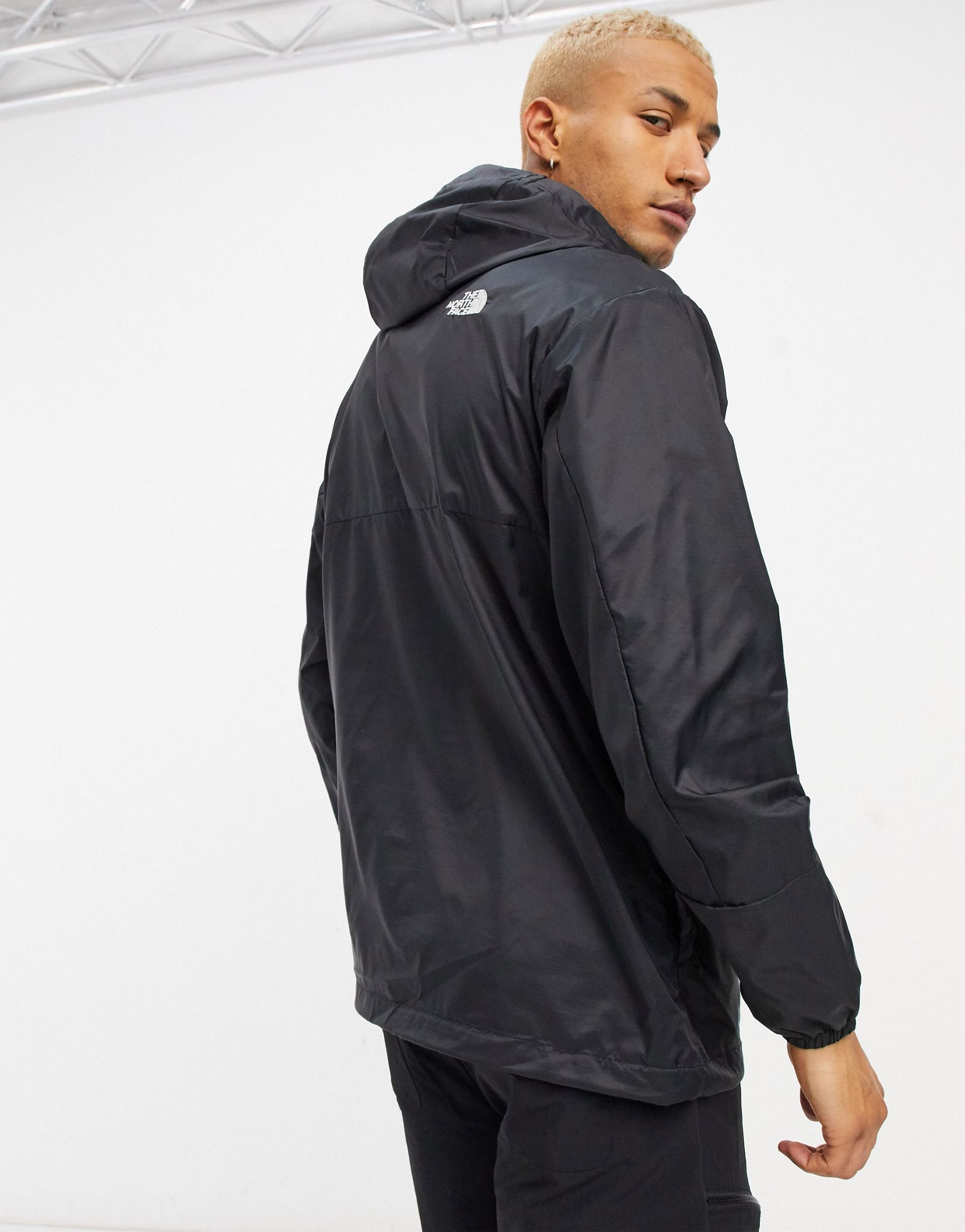 The North Face Wind Anorak jacket in black Exclusive at ASOS -  Price Checker