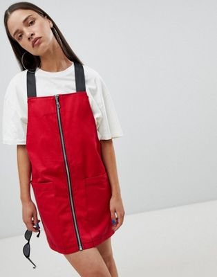 The Ragged Priest pinafore dress with zip front