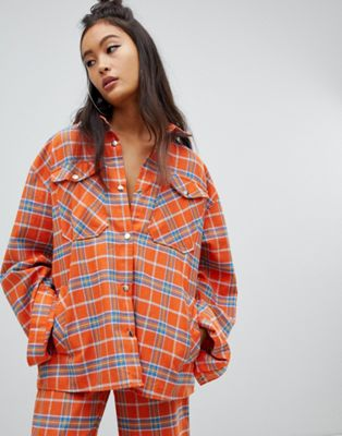 Image 1 of The Ragged Priest shirt in check two-piece