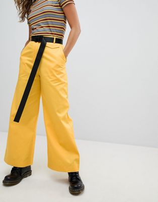 The Ragged Priest Wide Leg Trousers With Belt