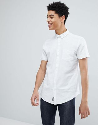 Threadbare Cotton Linen Short Sleeve Shirt