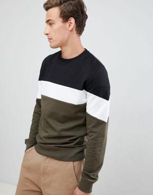 Threadbare Paneled Sweater