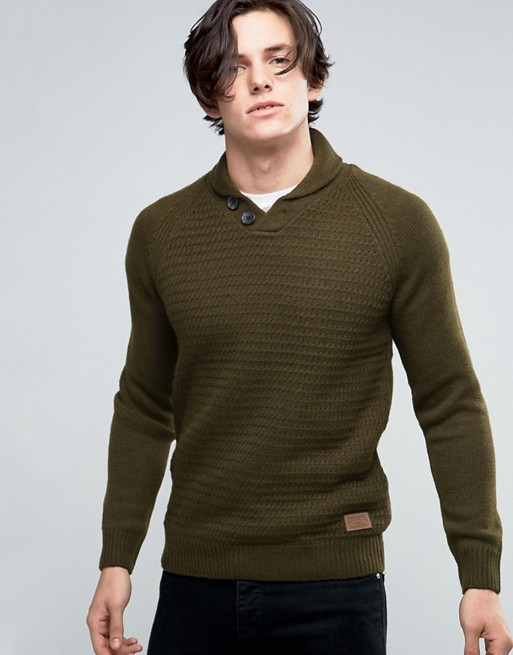 ec6e7fc03c0 Threadbare Shawl Neck Jumper