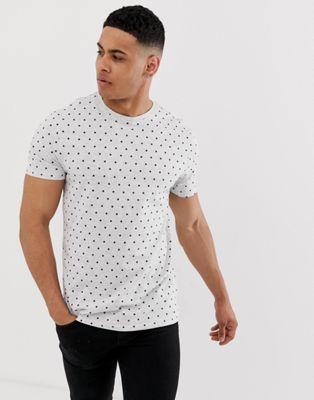 Threadbare - T-shirt met stippen