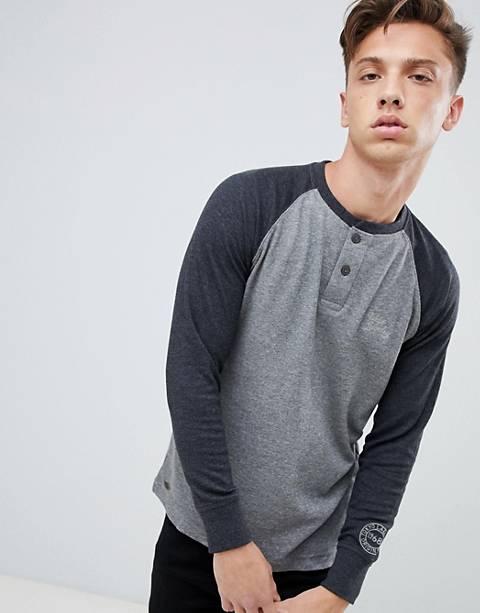 Tokyo Laundry Raglan Grandad Collar Lightweight Sweater