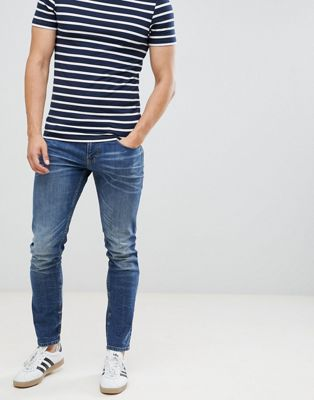 Tom Tailor Skinny Jeans In Dark Blue Wash