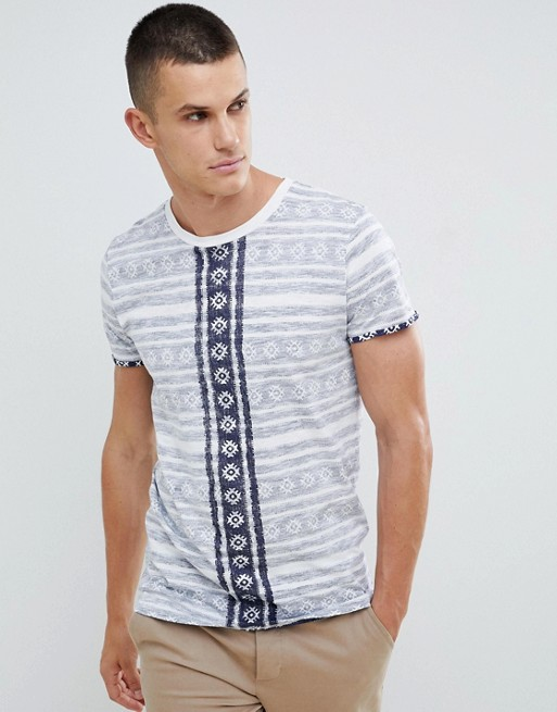 Image 1 sur Tom Tailor - T-shirt réversible à imprimé aztèque et ourlet asymétrique