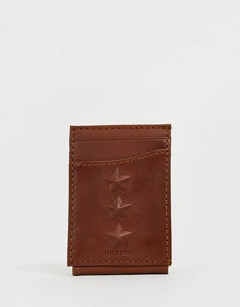 Tommy Hilfiger 3 star leather wallet in black