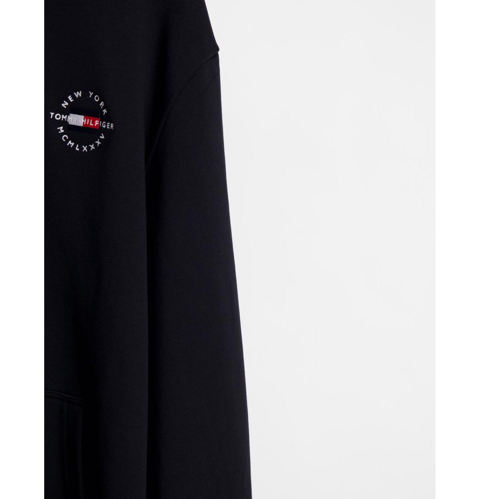 Tommy Hilfiger Big & Tall logo hoodie in black -  Price Checker