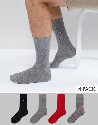 Tommy Hilfiger - Cadeaubox met 4 paar klassieke sokken