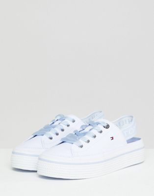 Tommy Hilfiger Canvas Trainers With Logo Elastic Sling Back
