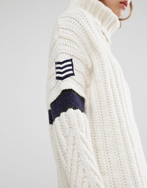 90b3b22a Tommy Hilfiger Gigi Hadid Roll Neck Knit Dress | ASOS