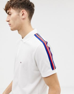 Tommy Hilfiger regular fit striped shoulder polo shirt
