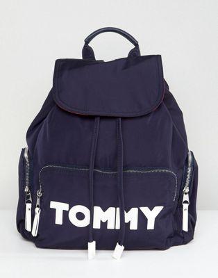 Tommy Hilfiger - Sac à dos en nylon avec logo