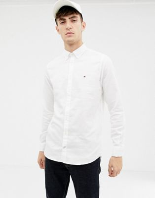 Image 1 of Tommy Hilfiger slim fit dobby shirt