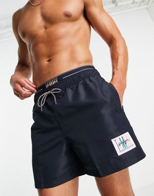 Tommy Jeans nylon tie dye running shorts in multi - ASOS Price Checker
