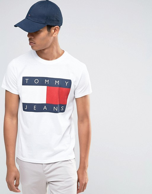 quality design b0cd8 36992 Tommy Jeans 90s T-Shirt in White