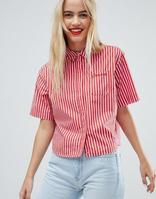 Image 1 of Tommy Jeans Boxy Stiped Shirt