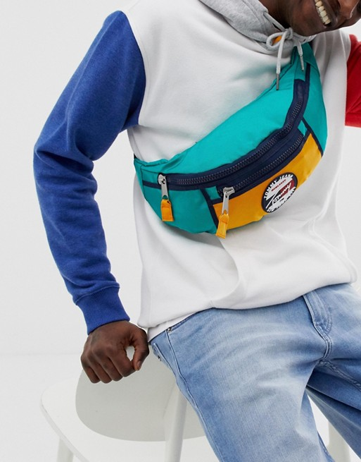 Image 1 of Tommy Jeans bumbag with signature logo in green