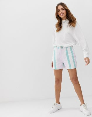 Image 1 of Tommy Jeans colour block stripe short