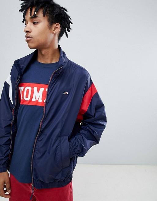 Oversize Klassische Marineblau leichte Logo in Jacke navy Jeans Tommy Schultereinsätzen mit qx56tpBc
