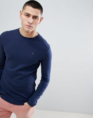 Tommy Jeans Long Sleeve T-Shirt in Navy