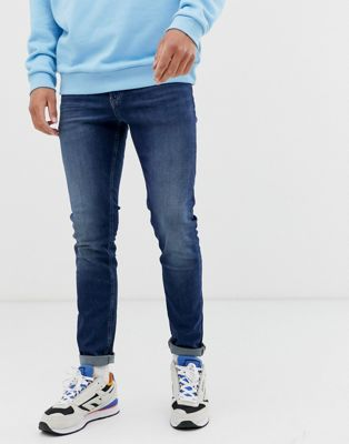 Tommy Jeans - simon - Skinny jeans in donkere wassing