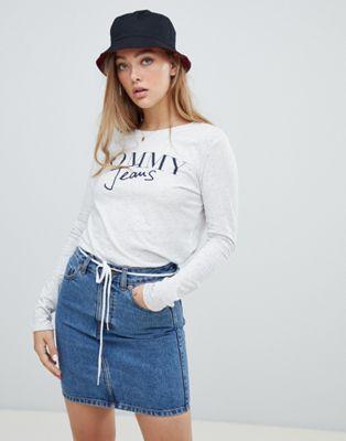 Tommy Jeans - T-shirt met lange mouwen en tekstlogo