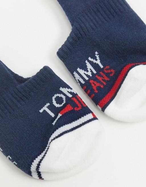 Tommy Jeans – Zestaw 2 par granatowych skarpetek sportowych DDNT
