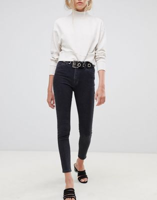 Tomorrow highwaisted cropped skinny jean with organic cotton