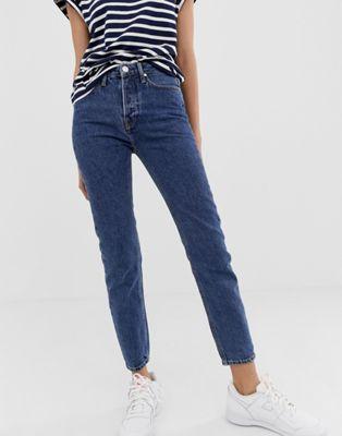 Tomorrow - Mom jeans met hoge taille van biologisch katoen