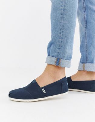 TOMS Classic Canvas Espadrilles In Navy