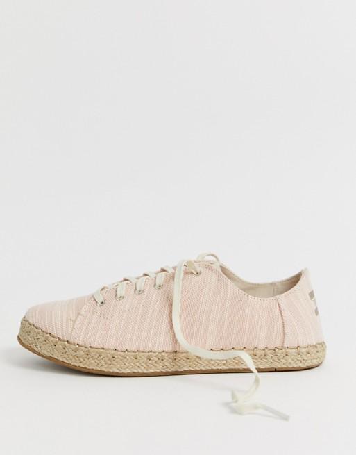 TOMs - Linnen sneakers met espadrillezool