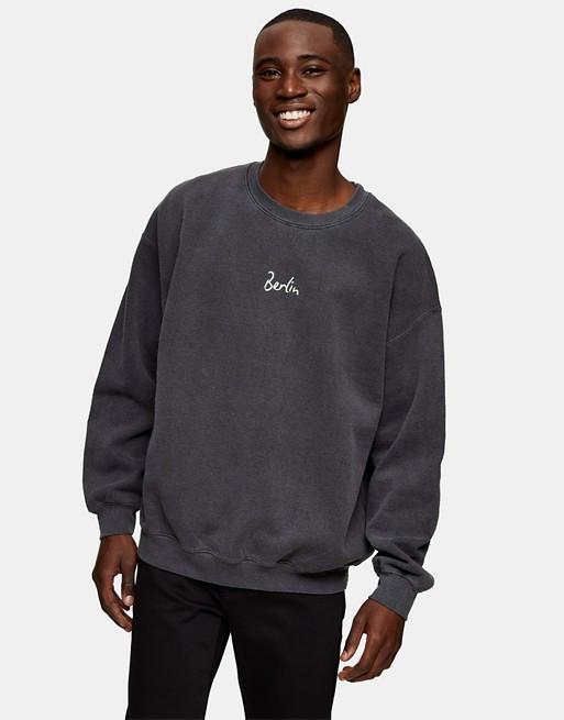 Topman Berlin biro sweater in black