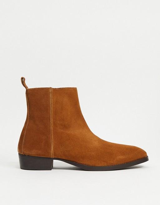 Topman cuban boots in tan