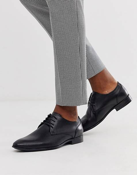 Topman derby shoes in black