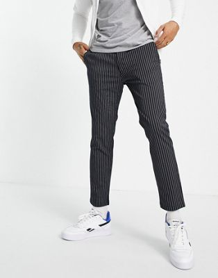 Topman relaxed cargo track pant trousers in black - ASOS Price Checker
