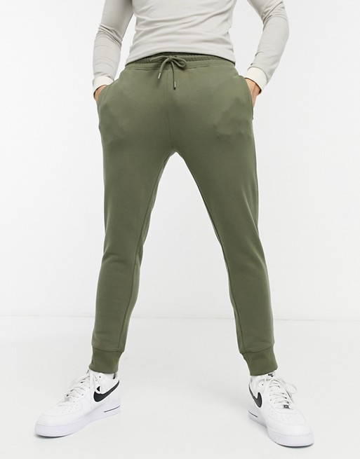 Topman sweatpants in khaki