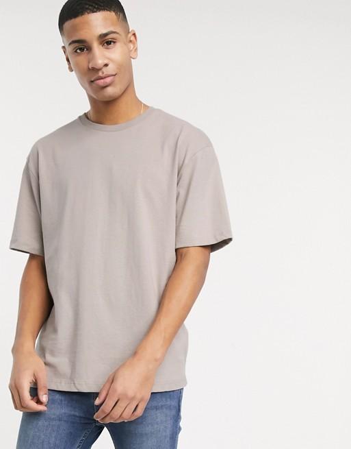 Topman - T-shirt oversize grigio pietra scuro