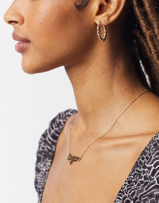 Topshop mini twist hoop earrings in gold