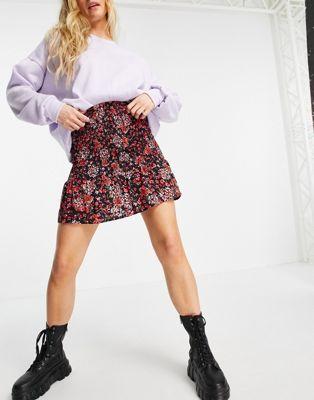 Topshop faux leather biker skirt in black - ASOS Price Checker