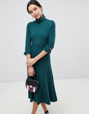 Traffic People High Neck Midi Dress
