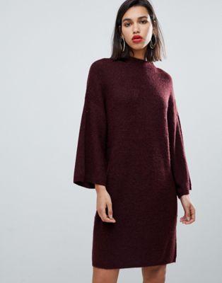 Трикотажное платье-футляр с широкими рукавами Y.A.S