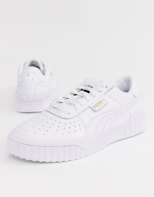 Triple White sneakers fra Puma Cali | ASOS